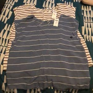 2 A&F short sleeve shirts with button-back detail
